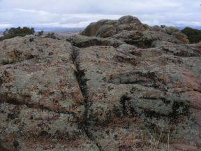Weathered granite at Hartman Rock