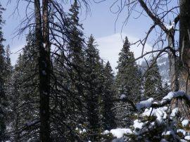 Hazy view of Fairview Peak
