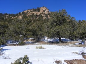 Rock outcropping in the foothills east of Salida