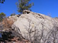 Typical outcropping in the hills above the Arkansas River