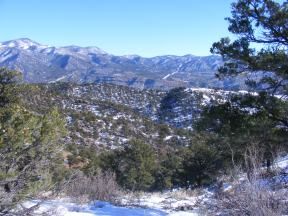 Pinon studded foothills about the Arkansas River