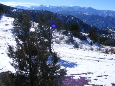 The Sangre de Cristo Range seen from north of and above the Arkansas River