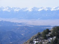 Looking across the Wet Mountain Valley to the Sangre de Cristo Range