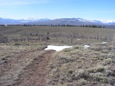 Looking north from Point 9150, left to right, Anthracite, Carbon, Whetstone, Flat Top, Red, Crested Butte, and the Elk Mountains