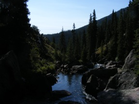 Elk Creek flowing down from the Second Meadows