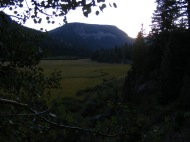 Horizon towards sunset over the Second Meadows of Elk Creek
