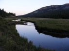 Elk Creek in the South San Juan Wilderness at sunset
