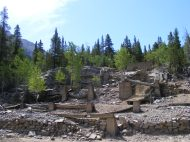 The foundation ruins are all that remains of this old structure near St. Elmo
