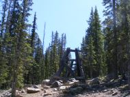 Part of the old aerial tram in Pomeroy Gulch