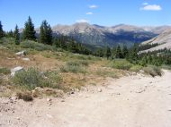 Hiking along the road in Pomeroy Gulch