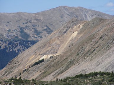 Mining sites in Grizzly Gulch