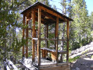 Scenic outhouse in Pomeroy Gulch