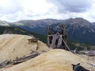 The Sawatch Range behind ruins near the Molly Murphy Mine