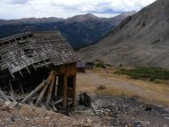 Ruins of the tramhouse and other structures of the Iron Chest Mine