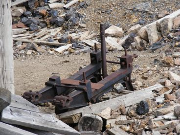 Old machinery at the Iron Chest Mine