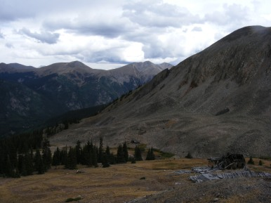 The Sawatch Range seen from the Iron Chest Mine
