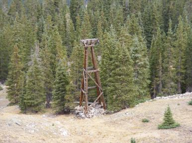 Tower on the third system leading down from the Iron Chest Mine