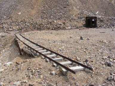 Track leading to an adit