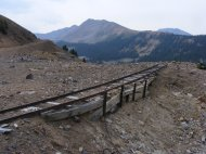 Old mine track and Pomeroy Gulch