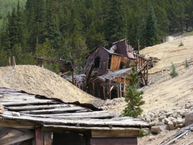 The tramhouse that served the Molly Murphy Mine