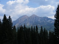 The Ruby Range seen from the Cliff Creek Trail