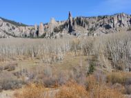 Some of the hoodoos and spires found in Mill Creek