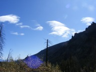 The only clouds seen on this sublime day, above Mill Creek
