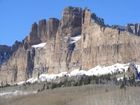 A sheer cliff face on Mill Creek