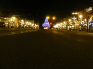 Main Street lit up during the Winter
