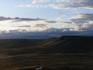 The sagebrush steppe hidden in shadow
