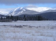 Looking north from Kenosha Pass towards some of the Front Range peaks