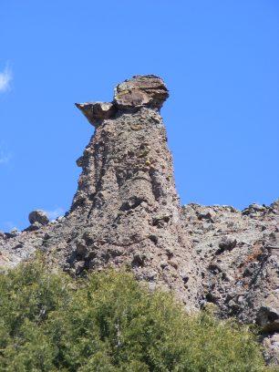 Yet another rock suspended on a pedestal of West Elk breccia, above East Elk Creek
