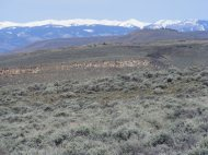 On the mesa that is sometimes referred to as North Parlin Flats, looking west at the West Elk Mountains