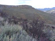 The edge of the mesa above Alder Creek