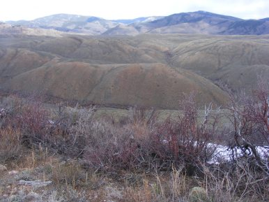 From North Parlin Flats, looking down into Alder Creek