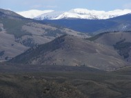 Looking east from North Parlin Flats at the Sawatch Range and the Great Divide
