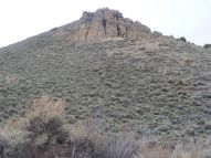 An outcropping of West Elk breccia on Magpie Gulch