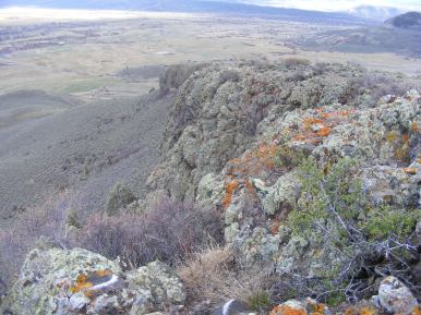 Looking towards my home in the City of Gunnison from Point 8680