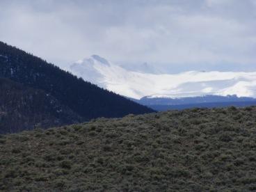 Snowy San Juan Mountains seen from Home Gulch
