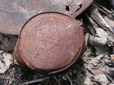 Oil can at the old mill site