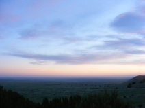 Long horizon at dawn on the Great Plains