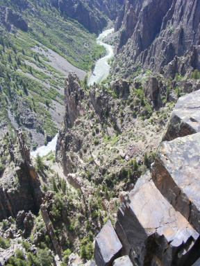 The Gunnison River running through the Black Canyon