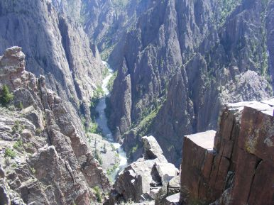 The Gunnison River in the spectacular Black Canyon
