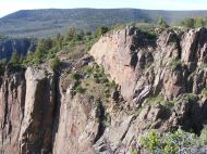Cliff faces on the north rim of the Black Canyon of the Gunnison