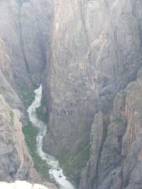 The narrow Black Canyon of the Gunnison near the North Rim Campground