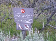 The trailhead to SOB Draw in Black Canyon of the Gunnison National Park