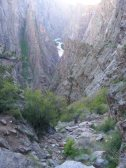 The route down SOB Draw into the Black Canyon of the Gunnison