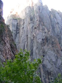 Within the depths of the Black Canyon of the Gunnison near SOB Draw