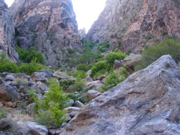 Looking up SOB Draw from the bottom of the Black Canyon of the Gunnison