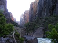 In the Black Canyon of the Gunnison at the base of SOB Draw